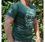 Zöld chow chow férfi póló