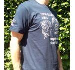 Cane corso-s sötétkék férfi póló