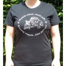 Bulldogos fekete női póló 2017