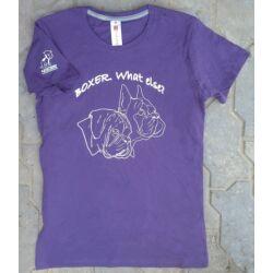 Boxeres női lila póló 2017