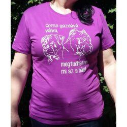 Cane corso-s lila női pólók