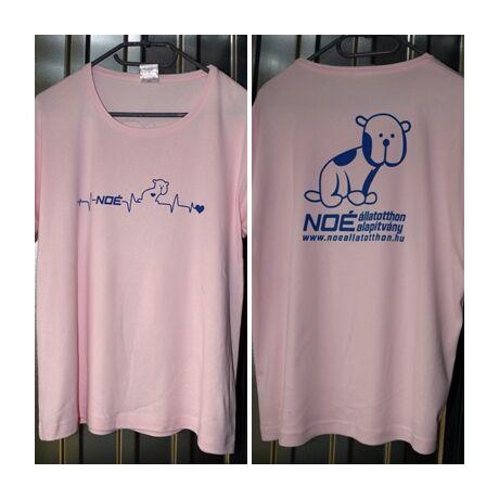 Halvány rózsaszín kereknyakú póló