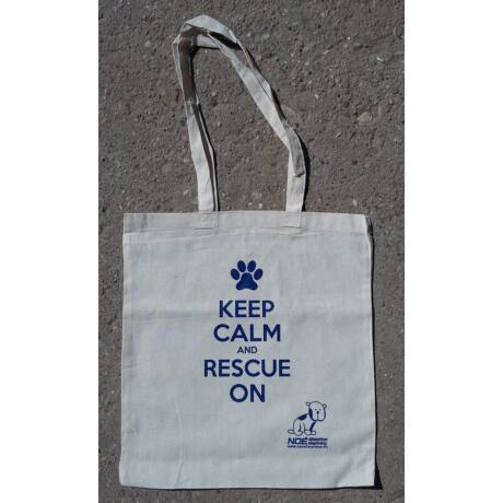 """""""Keep calm and rescue on"""" feliratú vászontáska"""