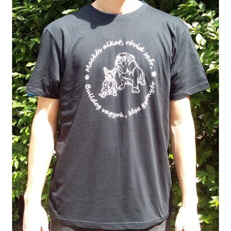 Bulldogos sötétkék férfi póló 2017