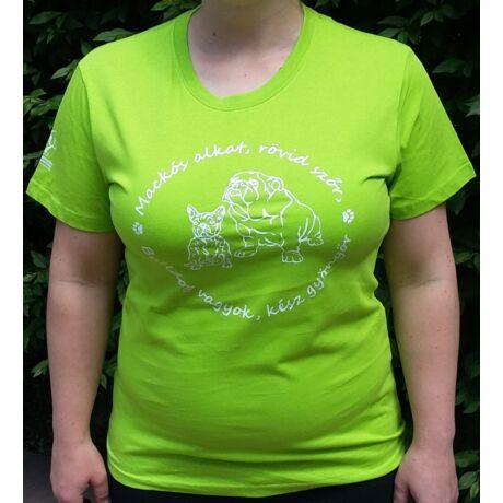 Bulldogos zöld női póló 2017