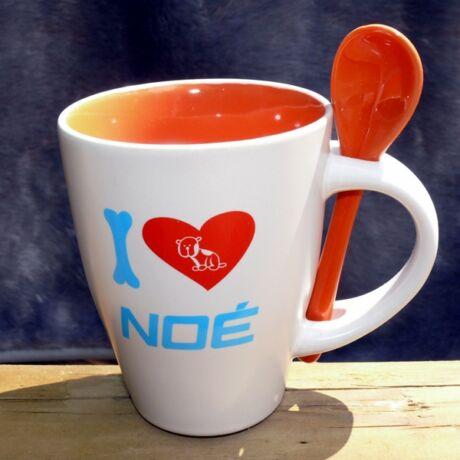 "Narancssárga ""I love NOÉ"" bögre"