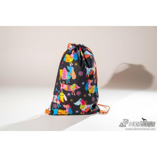 Színes tacskók – tacskó mintás hátizsák