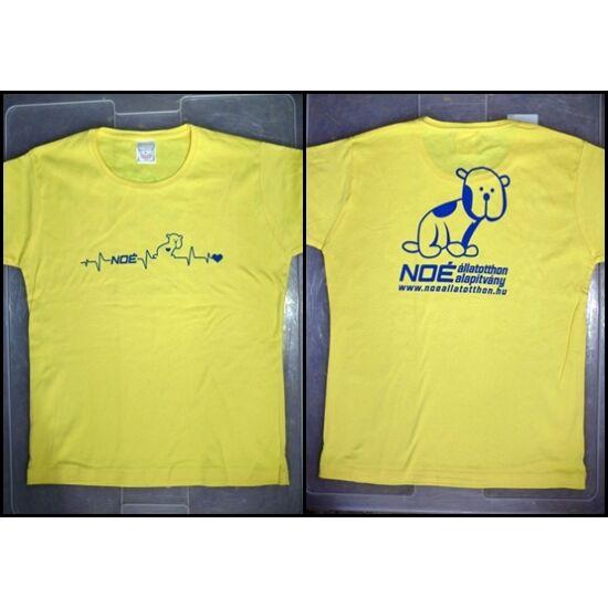 Sárga kerek nyakú póló