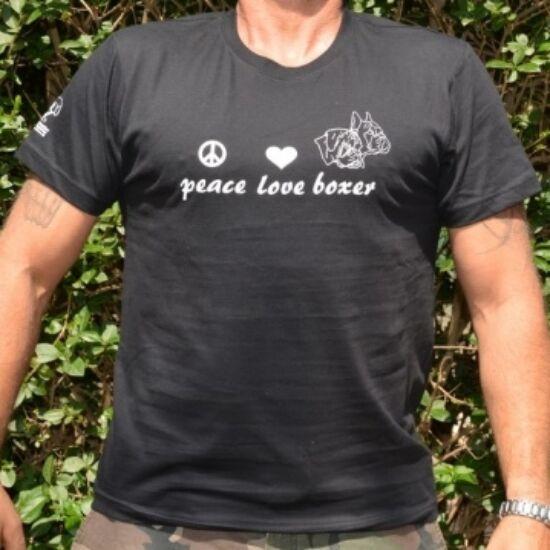 Fekete boxeres férfi póló