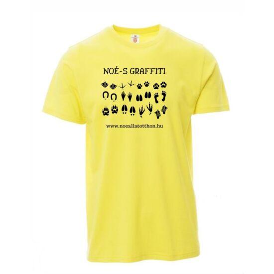 """""""Noé-s graffiti""""-s sárga férfi póló"""